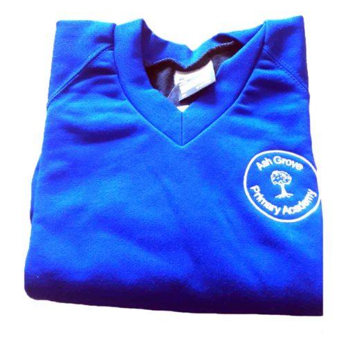 Ash-Grove-v-neck-royal-blue-sweatshirt
