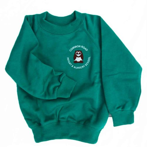 Common-Road-crew-neck-jad green-sweatshirt