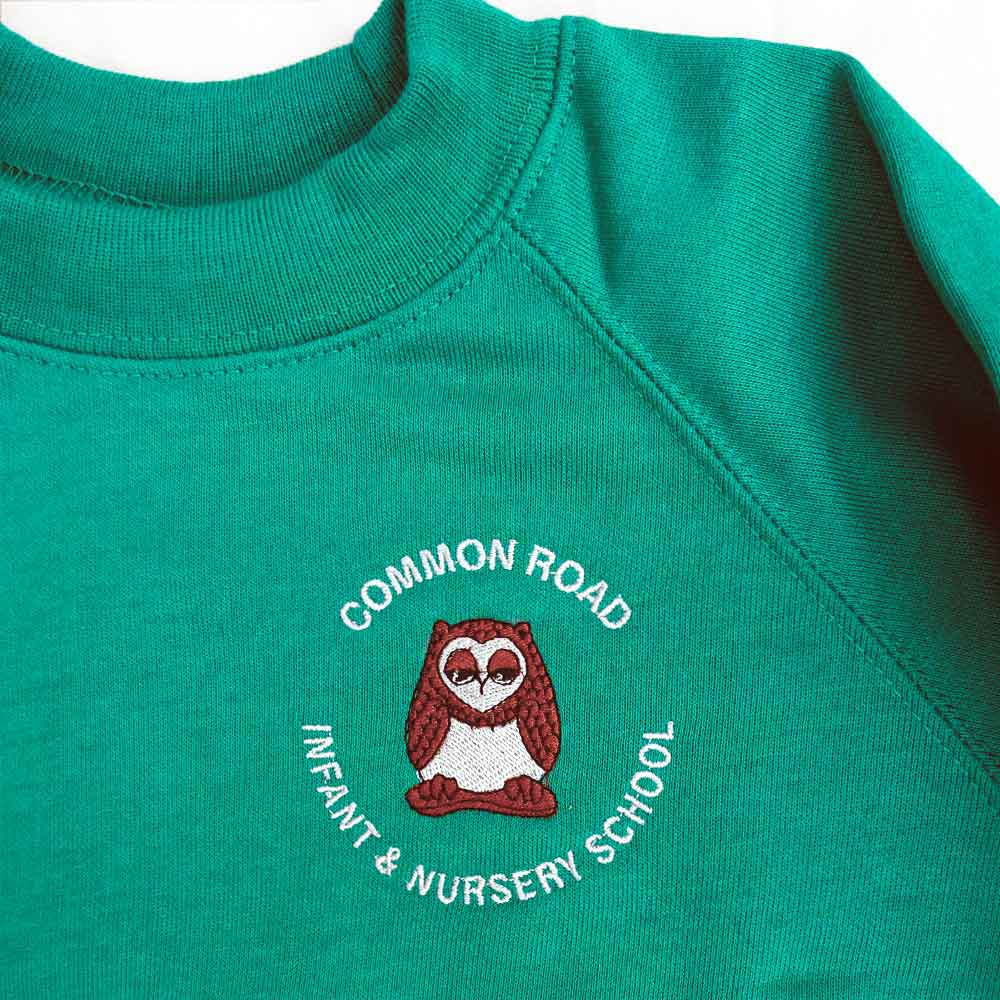 Common-Road-crew-neck-jad green-sweatshirt