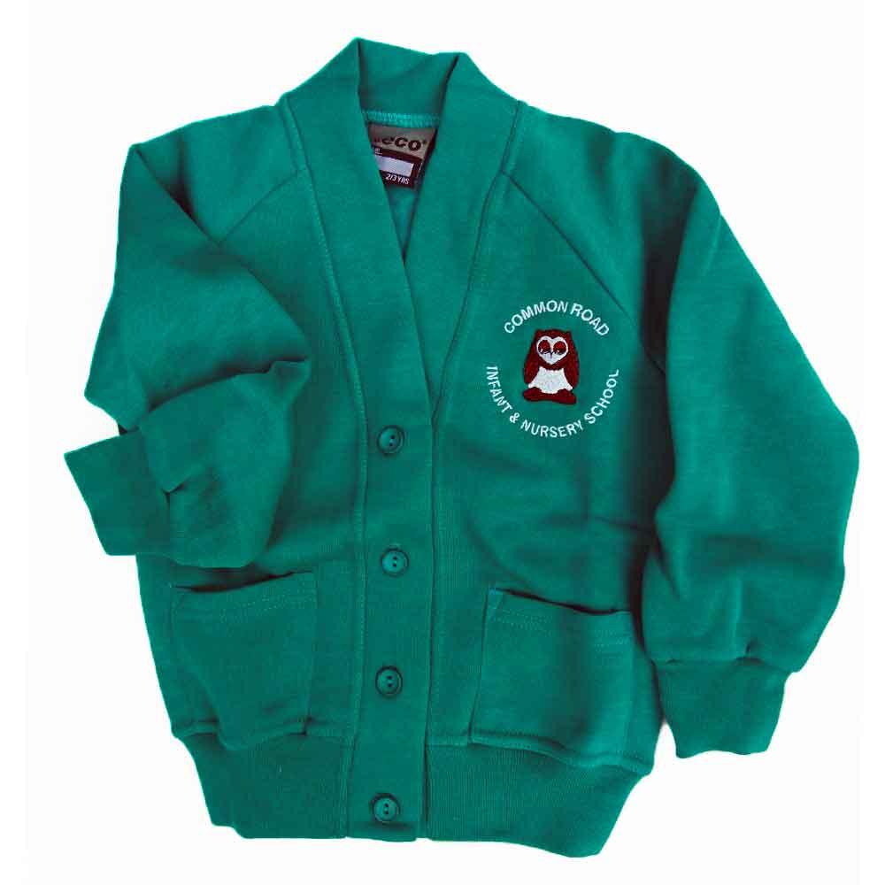 Common-Road-jade-green-sweat-cardigan