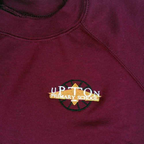 upton maroon v neck sweatshirt